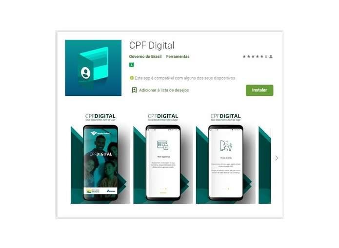 aplicativo documento cpf digital