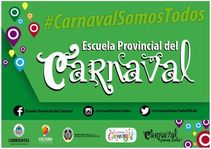 Inicio de actividades de la Escuela Provincial de Carnaval