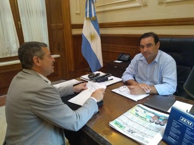 Emtrevista del Intendente Osnaghi con el Gobernador Valdés