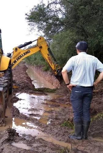 Continúan las obras para mejor escurrimiento de aguas pluviales