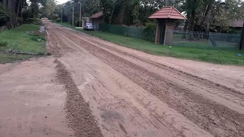 Actividad municipal de Obras Públicas en Paso de la Patria
