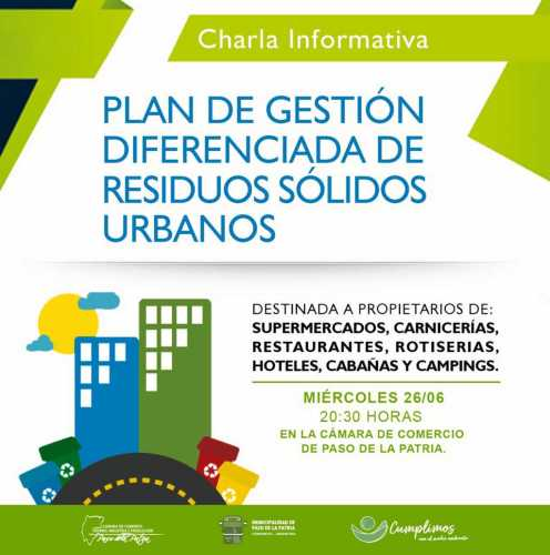 Charla informativa sobre gestión diferenciada de residuos sólidos urbanos