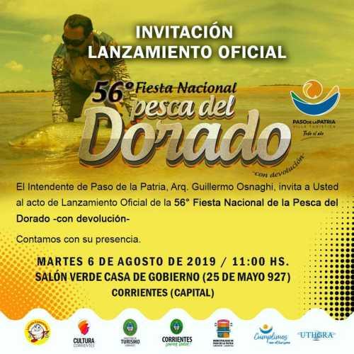 Lanzamiento Oficial 56° Fiesta Nacional de la Pesca del Dorado