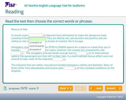 Tips Reading Marlins Test
