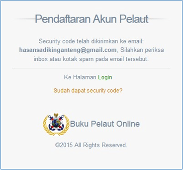 Pendaftaran akun pelaut - buku pelaut online