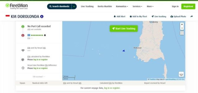 Monitor Kapal Laut Dorolonda