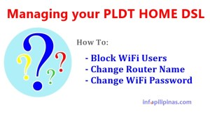 how to change PLDT dsl wifi password and block users