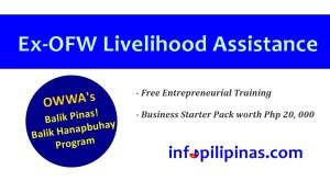 OWWA ex ofw livelihood program 20,000 pesos