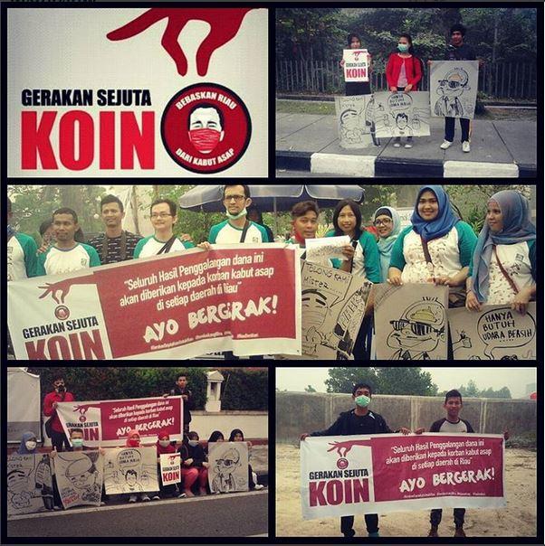 Penggalangan dana Gerakan Sejuta Koin di Jalan Diponegoro saat acara CFD, Minggu, (4/10).