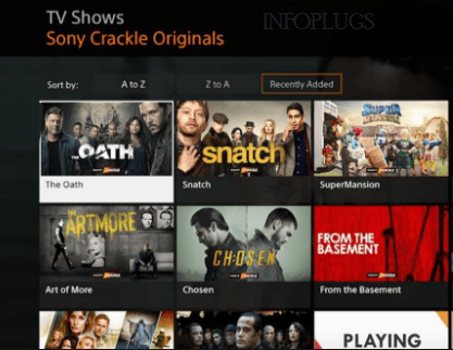 Crackle tv Shows