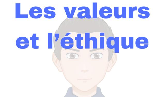 JSP1 #Les valeurs et l'éthique