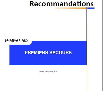Recommandations PSE1 et PSE2 – version 2014