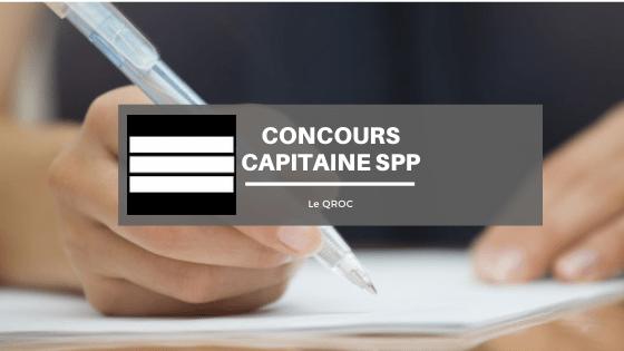 Concours capitaine SPP (externe) : le programme du QROC