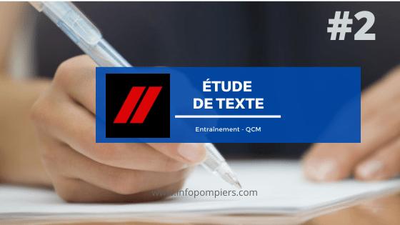 Étude de texte – Entraînement #2