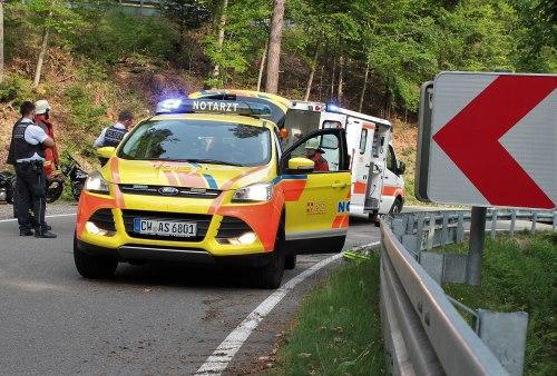 Schwerer Motorradunfall bei Schellbronn