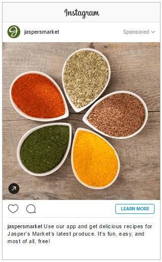 anúncio no instagram