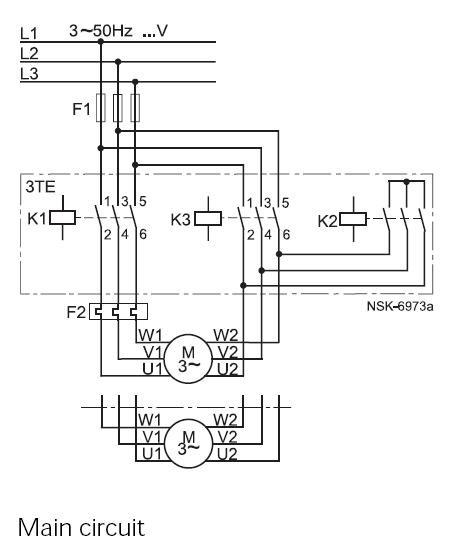 Rangkaian DOL, Auto Star-Delta dan Soft Starter pada motor
