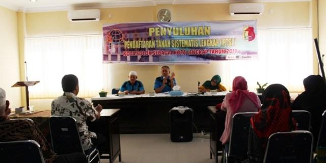 Kantor Pertanahan Kota Solok Berikan Penyuluhan PTSL Kepada Masyarakat Kel. VI Suku