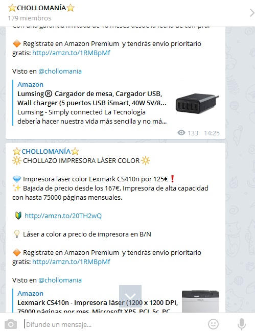 canal chollomania telegram