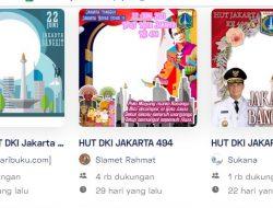 20 Twibbon Keren Ulang Tahun DKI Jakarta ke-494 Tahun 2021: Langsung Download dan Pakai