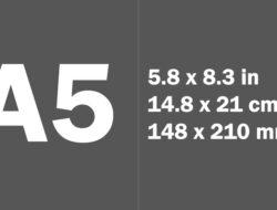 Ukuran Kertas A5 Dalam mm, cm, inci, & Pixel, Ketahui Standar Pastinya