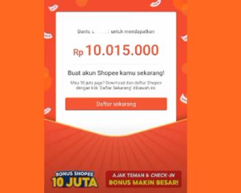 bonus shopee 10 juta