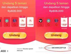 Cara Memasukkan Kode Undangan TikTok Bisa Dapat Rp 600 Ribu