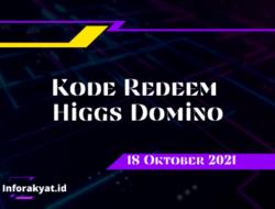 Kode Redeem Higgs Domino 18 Oktober 2021