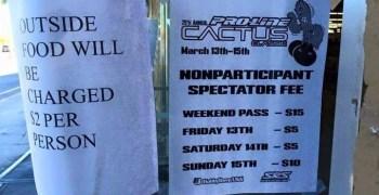Cactus Classic: Este año los espectadores deberán pagar 5$ (+2 si llevan comida de fuera)