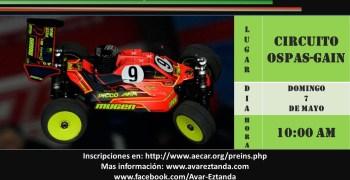 7 de Mayo - Primera prueba Campeonato Social Euskadi 1/8 TT Gas