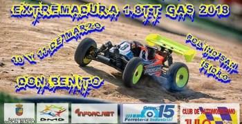 10 y 11 de Marzo, tercera prueba Regional de Extremadura 1/8 TT Gas 2018