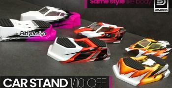 Bittydesign presenta su nuevo soporte para coches 1/10 off road