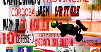 10 de Febrero - Primera prueba del Provincial Cordoba-Jaen 1/8 TT Gas 2019