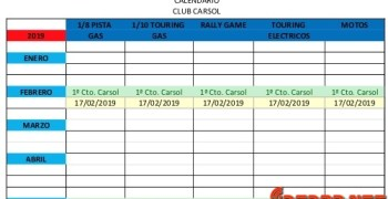 Calendario de carreras 2019 del Club Carsol en Elche