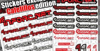 Stickers infoRC Cafelillos Team, exclusivos para colaboradores