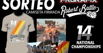 Sorteo Robert Batlle y FRGrafix camiseta conmemorativa firmada