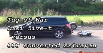 Vídeo: Coche radiocontrol 1/5 remolcando a un coche de escala real.