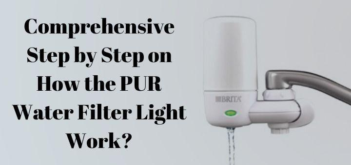 how does the pur water filter light