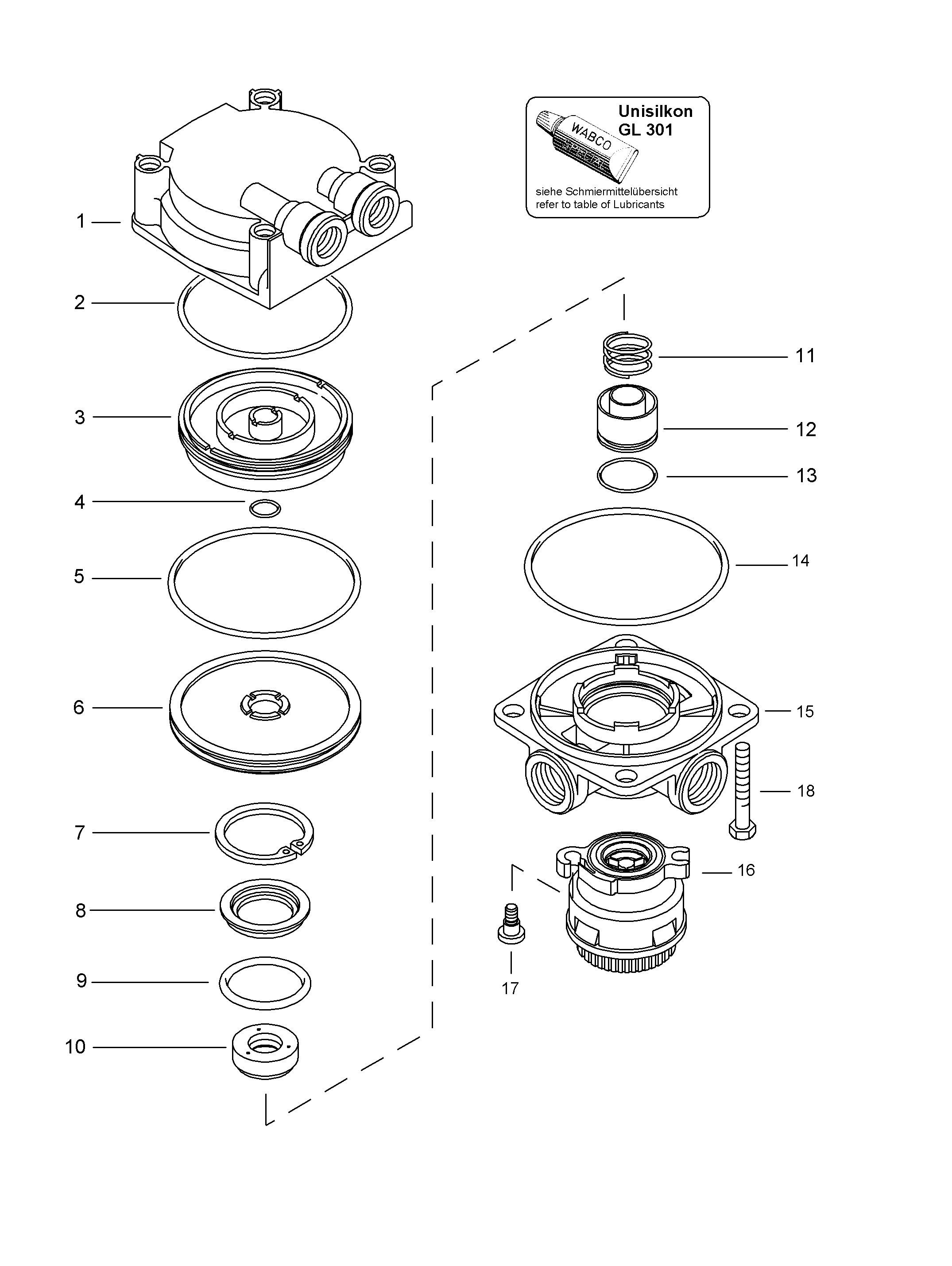 WABCO::Spare Parts List Relay Valve 9730112050