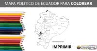 Mapa de Ecuador para Colorear (IMPRIMIR)