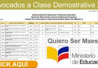 lista-convocados-clases-demostrativa-quiero-ser-maestro-5-2017-informacionecuador