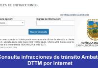 consulta infracciones de transito ambato
