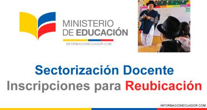 Sectorización Docente Ecuador 2021 Ministerio de Educación INSCRIPCIONES