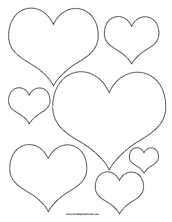 Corazones tiernos de Amor para colorear e imprimir