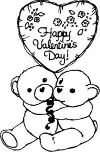 Dibujos para colorear de Happy Valentines Day ...