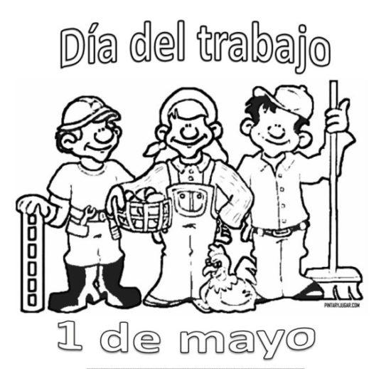 Imágenes del Día del Trabajador con dibujos para descargar