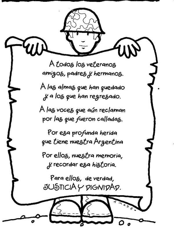 Poema Del Dia Del Soldado Para Primaria