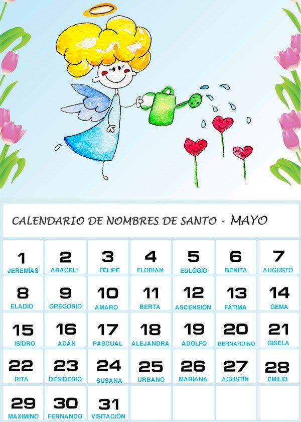 Imgenes de Calendarios Infantiles de Mayo 2016 para