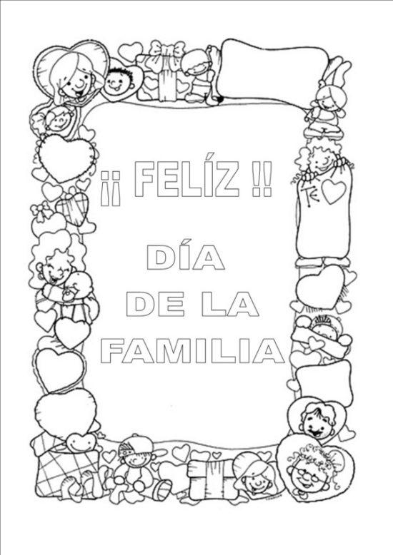 Imgenes del Da de la Familia para pintar colorear e imprimir el 15 de Mayo  Informacin imgenes