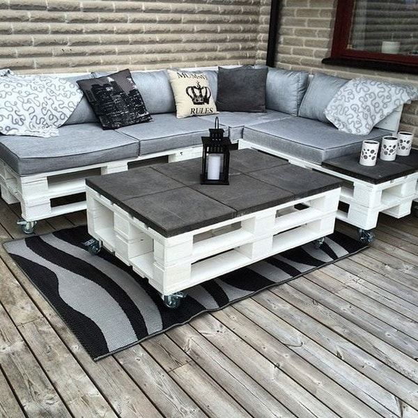 Imgenes de Muebles con Palets sofas mesas camas ideas